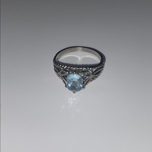antique ring with blue jewel